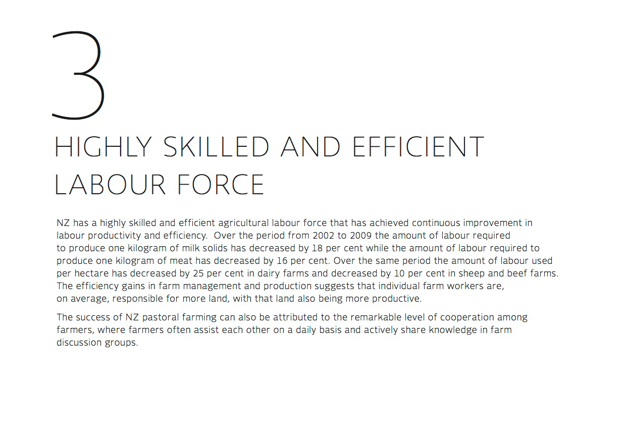 Highly skilled and efficient labour force