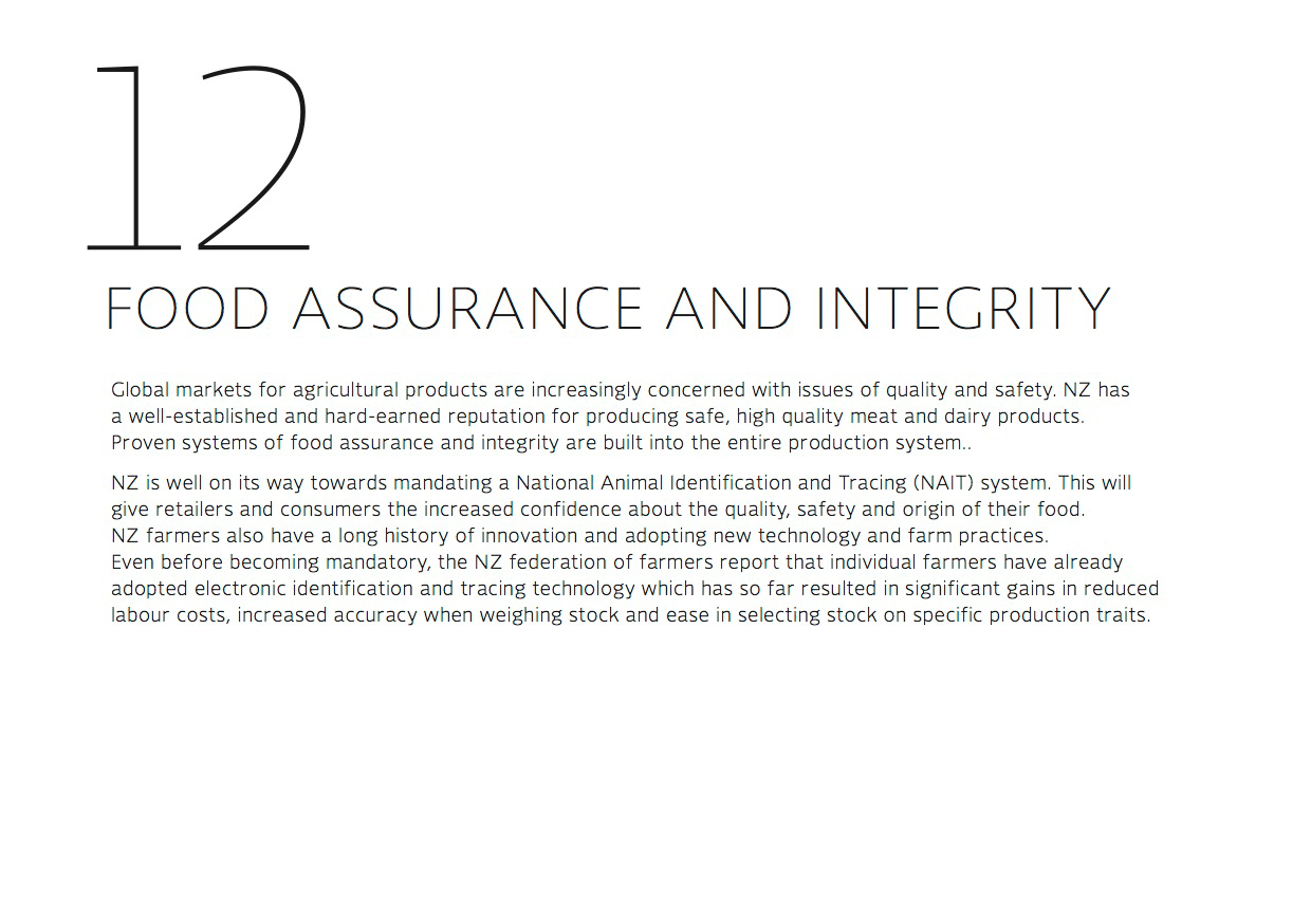 Food assurance and integrity