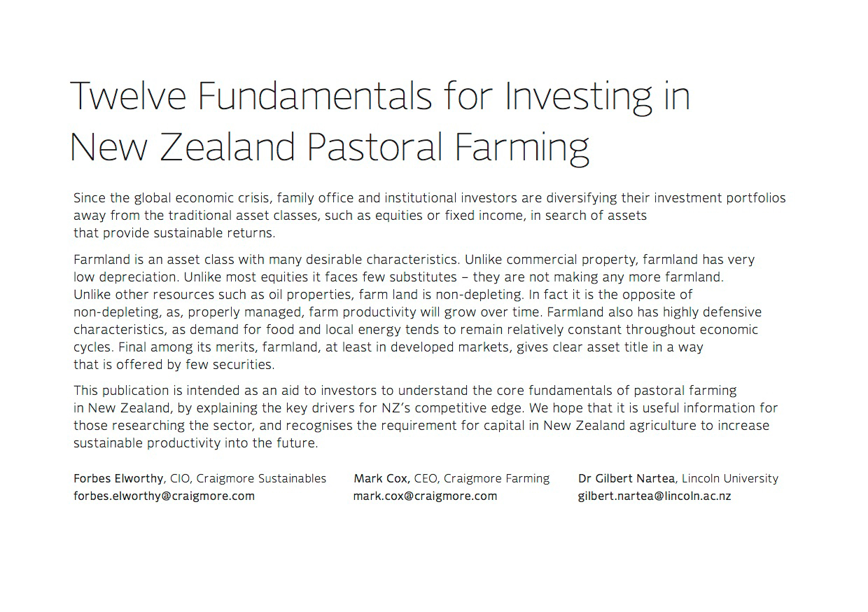 12 Fundamentals for Investing in New Zealand Pastoral Farming