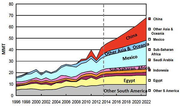USDA: large importers of maize