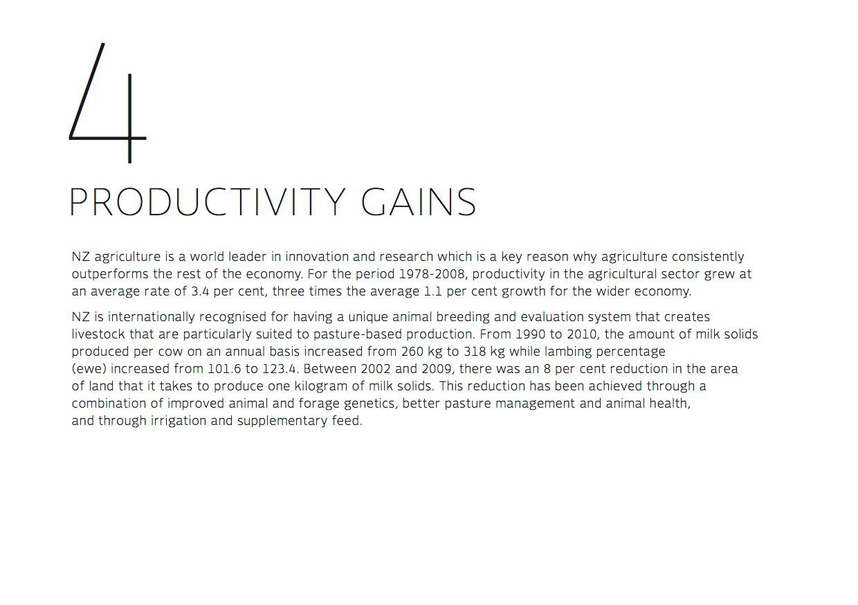 Productivity gains