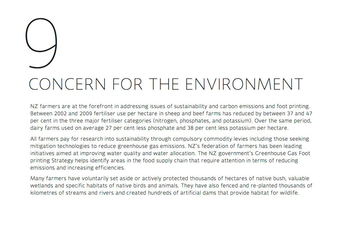Concern for the environment