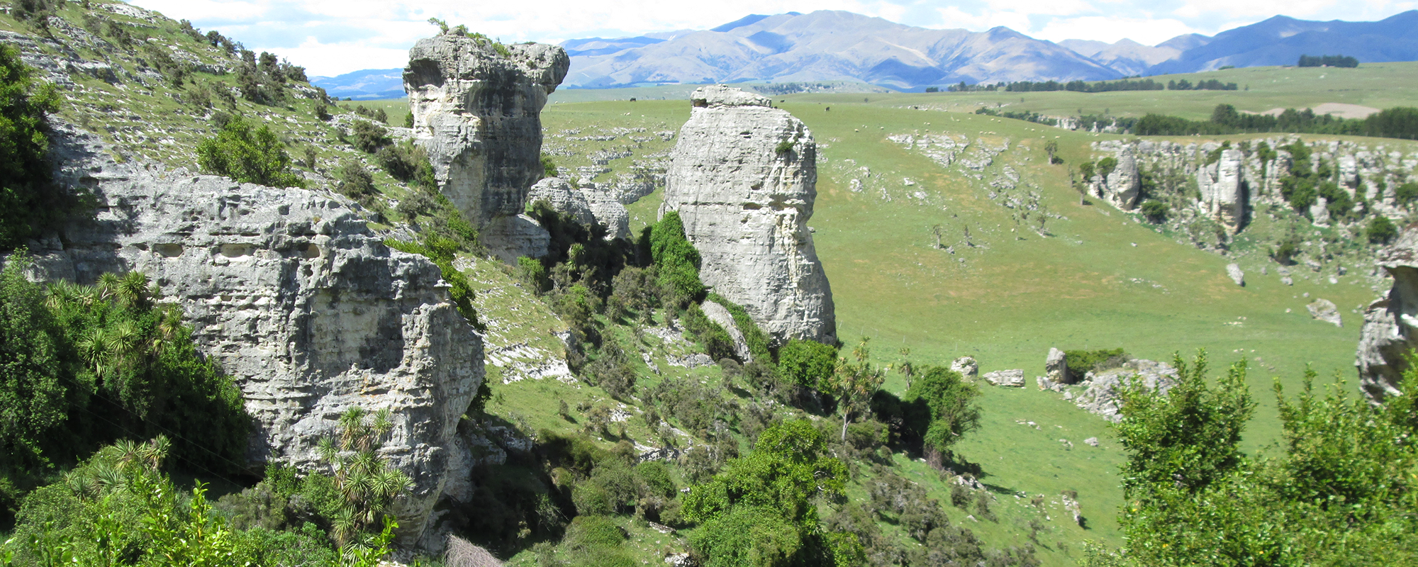 Limestone rocks at Craigmore Station, South Canterbury