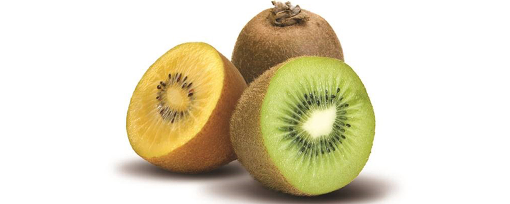 Green and gold kiwifruit
